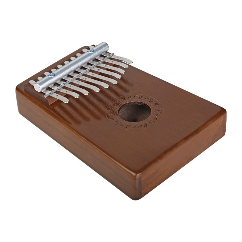 GECKO Kalimba Mbira Sanza 10 Keys Thumb Piano with Musical Notation - Coffee - 3460116912