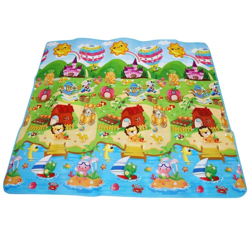 Maboshi Double-sides Soft Game Rug Play Crawling Sports Toy - Colormix - 2X87240112