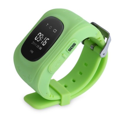 Refurbished Q50 English Version Children Safety Monitoring GPS Intelligent Watch Telephone - Green - SZ287190514