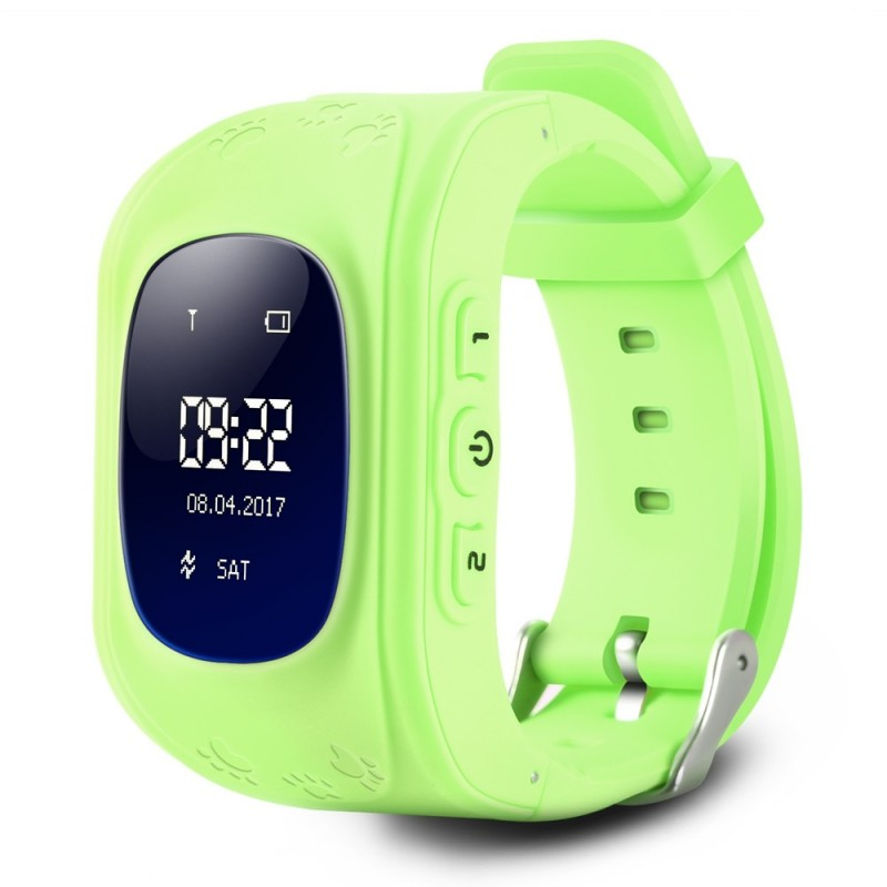 Q50 Children OLED Display GPS Intelligent Watch Telephone - Green - 2Q08342212