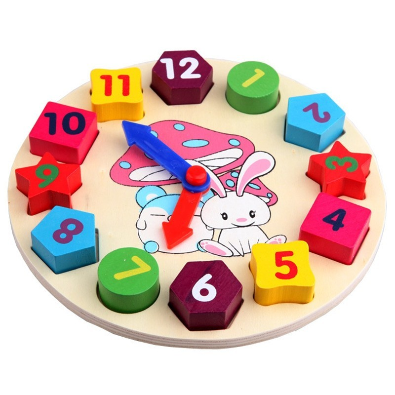 Children Time Shape Matching Recognize Toy - Multi - 3S83852612