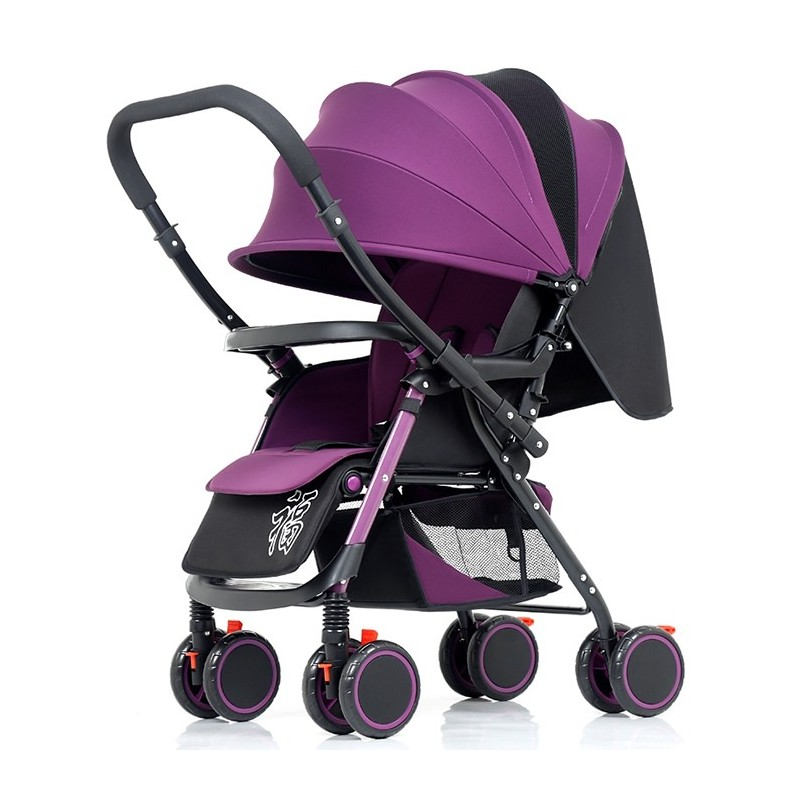 wisesonle A6 Two-way High View Four-wheeled Stroller for Baby - Dark Orchid - 5W52816016