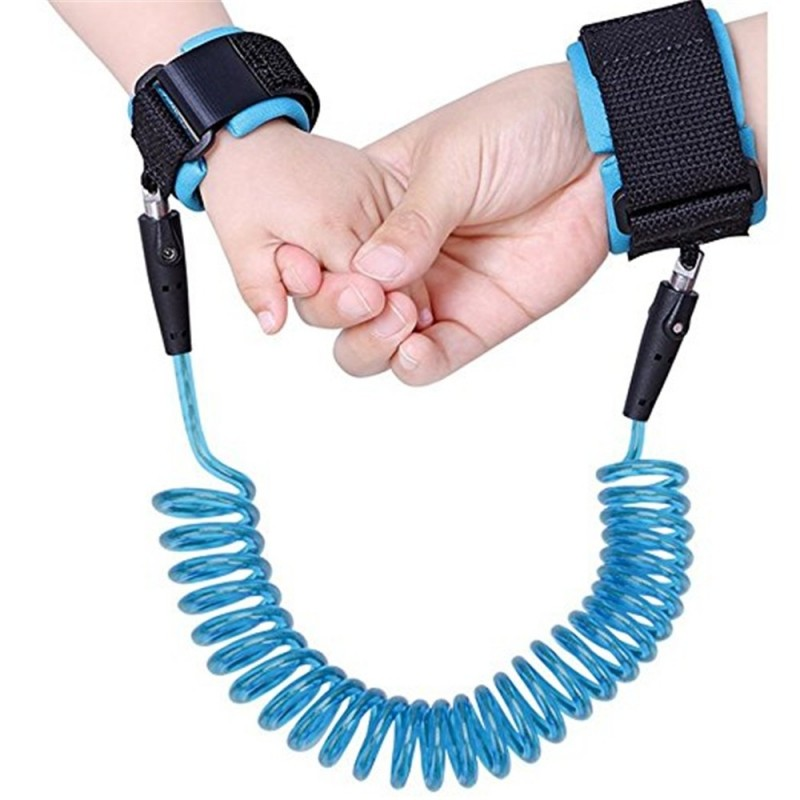 Baby Child Anti Lost Safety Wrist Link Harness Strap Rope Leash Walking Hand Belt Band Wristband for Toddlers - Blue