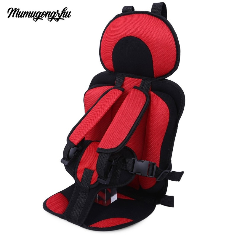 Mumugongzhu Kids Safety Thickening Cotton Adjustable Children Car Seat - Red - 2K91669015
