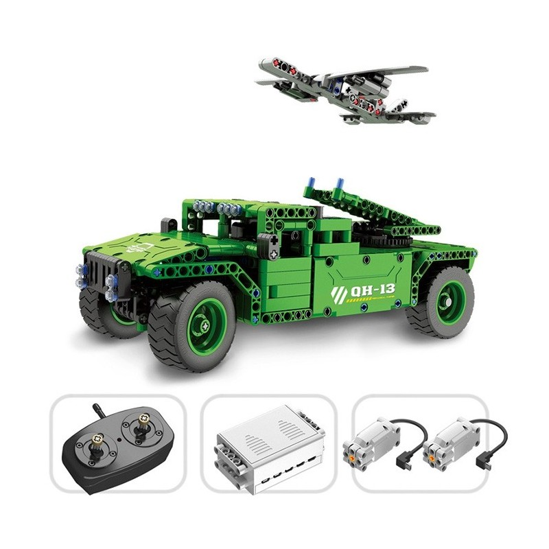 QH - 8013 Technology Series 2.4G Electric Remote Control Assembled Toy 506PCS - Green - 5E58366412