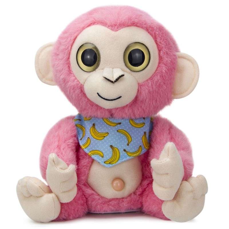 Stuffed Plush Toy Electric Monkey Talk Repeat Speak Record Body Swing Doll - Pink - 5W57303412