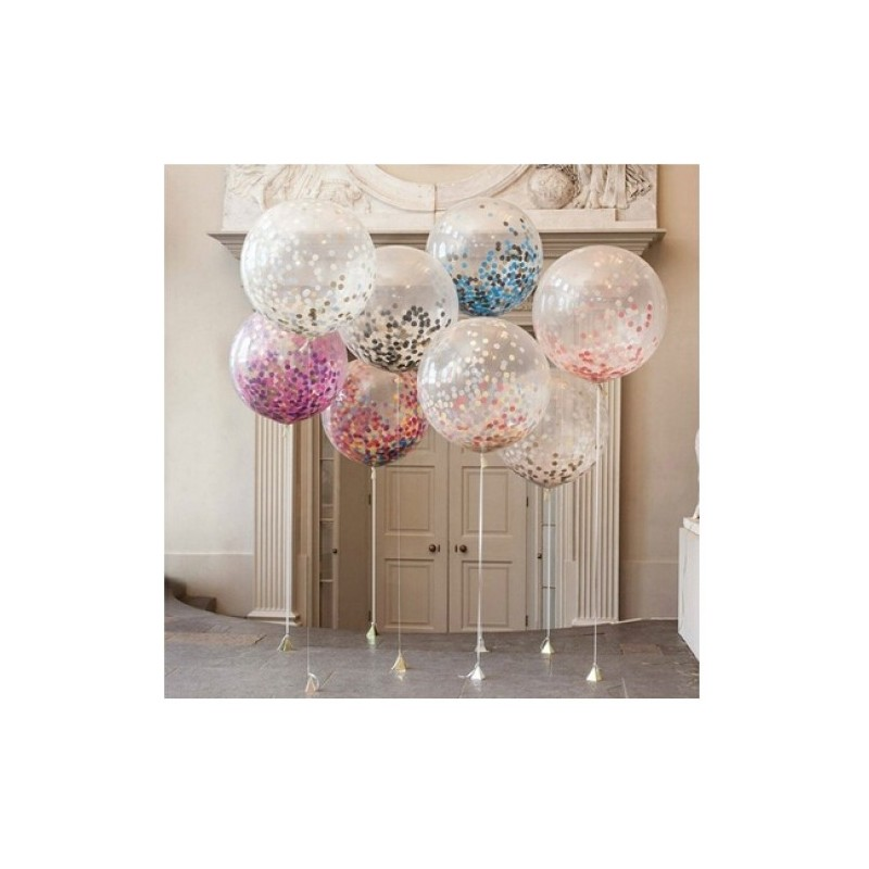 Colorful Lucency 36 inch Balloon 1pc - Random Color - 3327332012