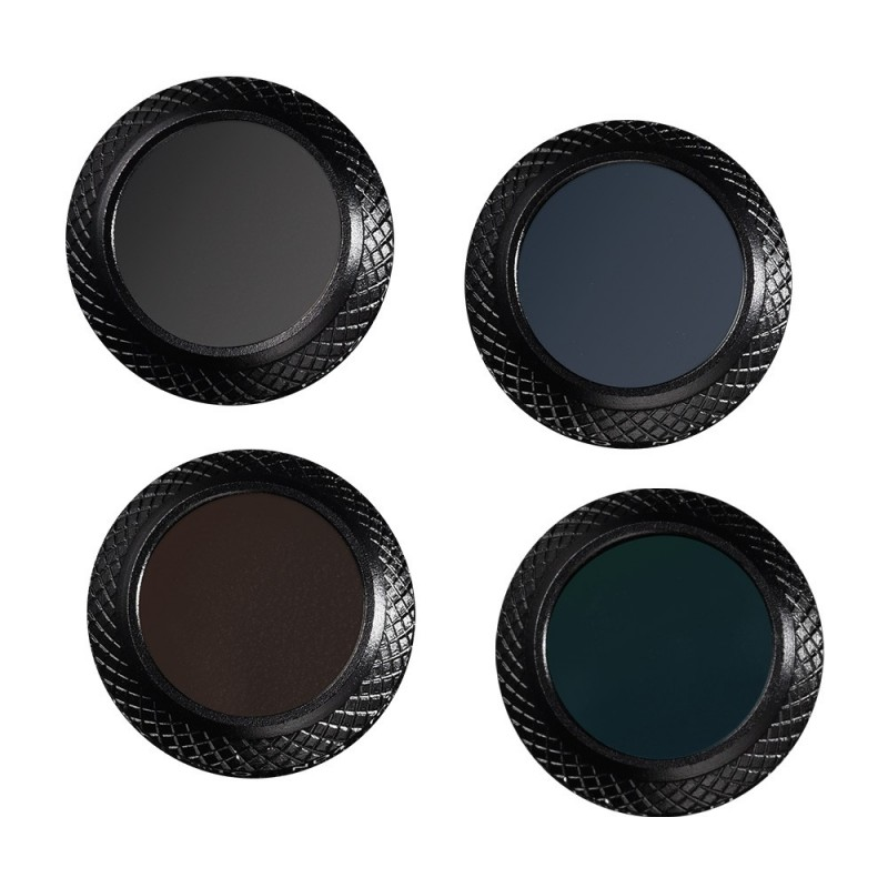 4 Pieces CPL+ND4+ND8+ND16 Filter Kit for DJI Mavic Pro Drone - Black - 3492943612