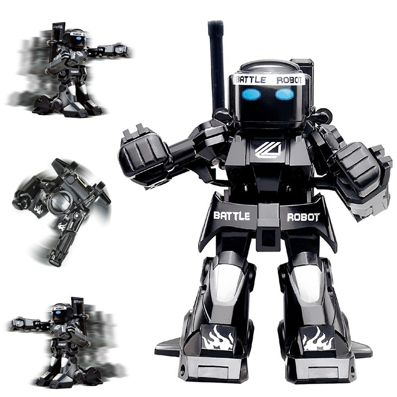 777 - 615 Battle RC Robot 2.4G Body Sense Remote Control Kids Gift Toy Model - Black - 3687116612