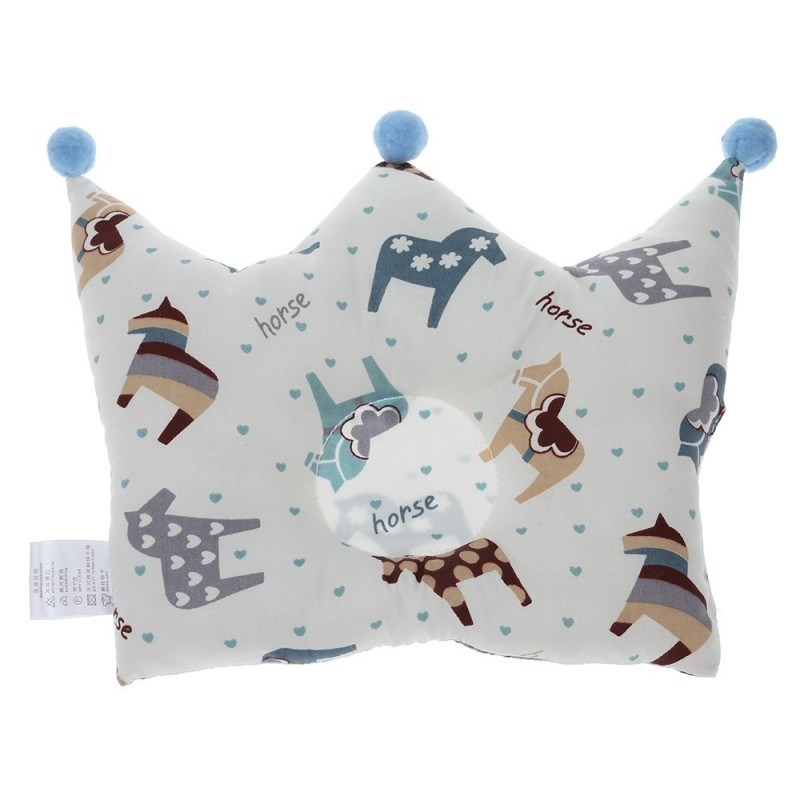 Crown Shape Baby Pillow Infant Sleeping Headrest - Multi-E - 3846497116