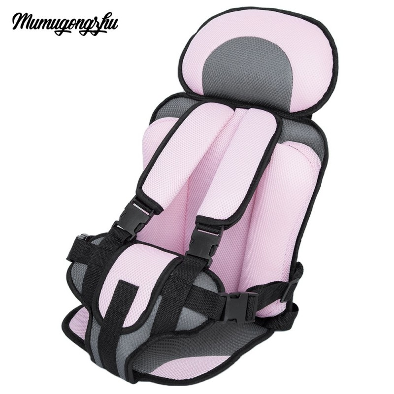 Mumugongzhu Kids Safety Thickening Cotton Adjustable Children Car Seat - Pink - 2191669013