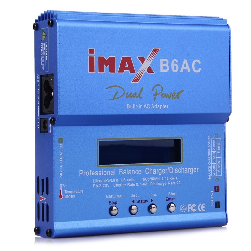 B6AC Digital RC Lipo NiMH Battery Balance Charger Discharger - Blue - 2C67995612