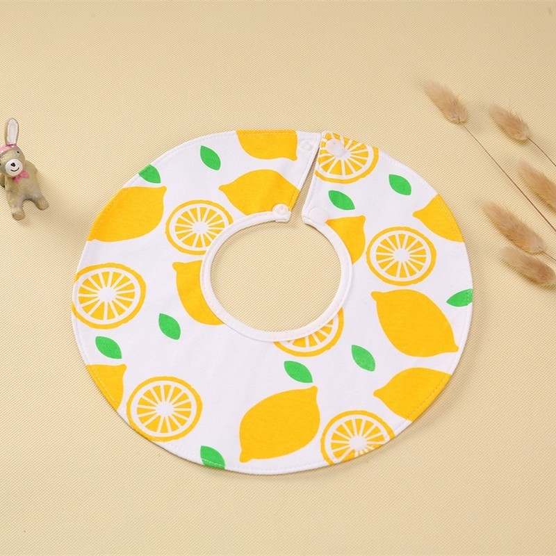 Baby Waterproof Saliva Towel 360 Rotatable Fruit Bib Baby Bib Water Single - Corn Yellow - 4O89551214