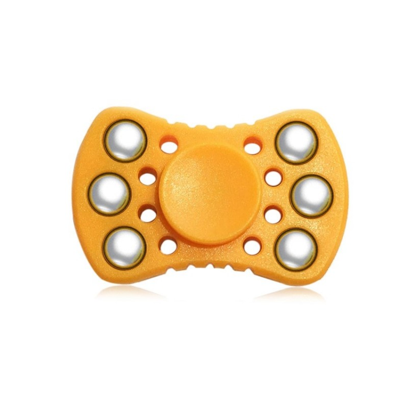 ABS ADHD Fidget Spinner with R188 Bearing Stress Relief Toy Relaxation Gift for Adults - Orange - 3N21726713