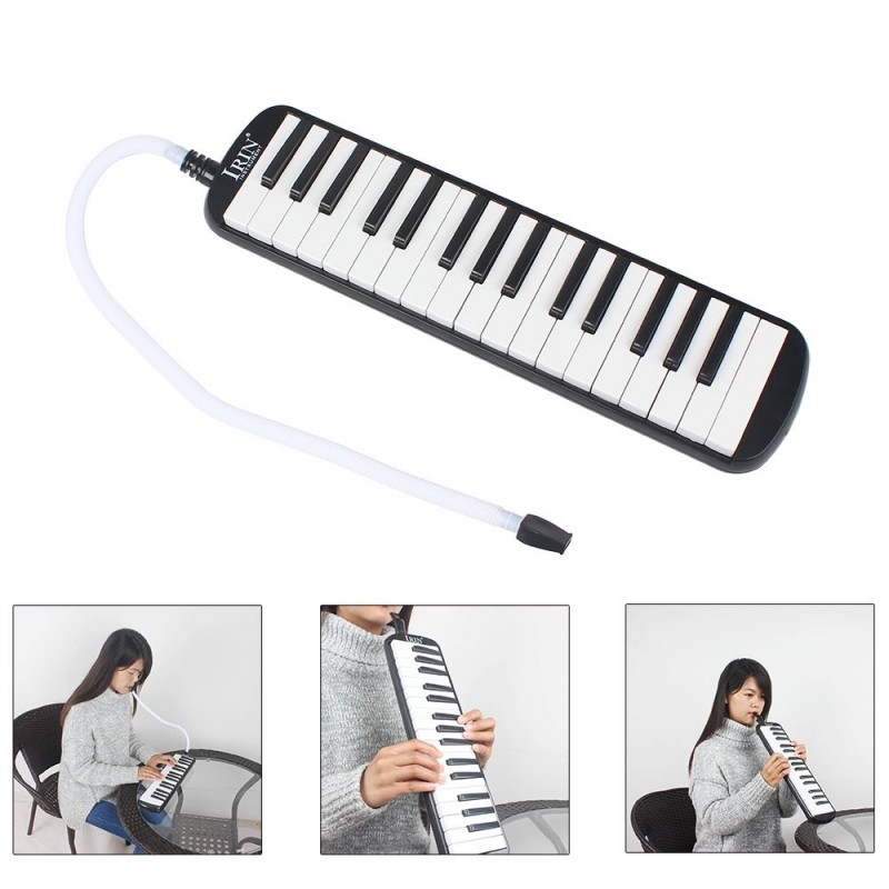 IRIN Portable 32 Key Melodica Student Harmonica with Bag - White And Black - 2288172412
