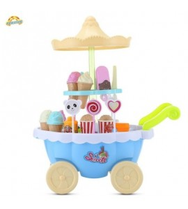 RANXIAN 1800 - 22 Household Playset Candy Ice Cream Cart - Day Sky Blue - 3P79054112