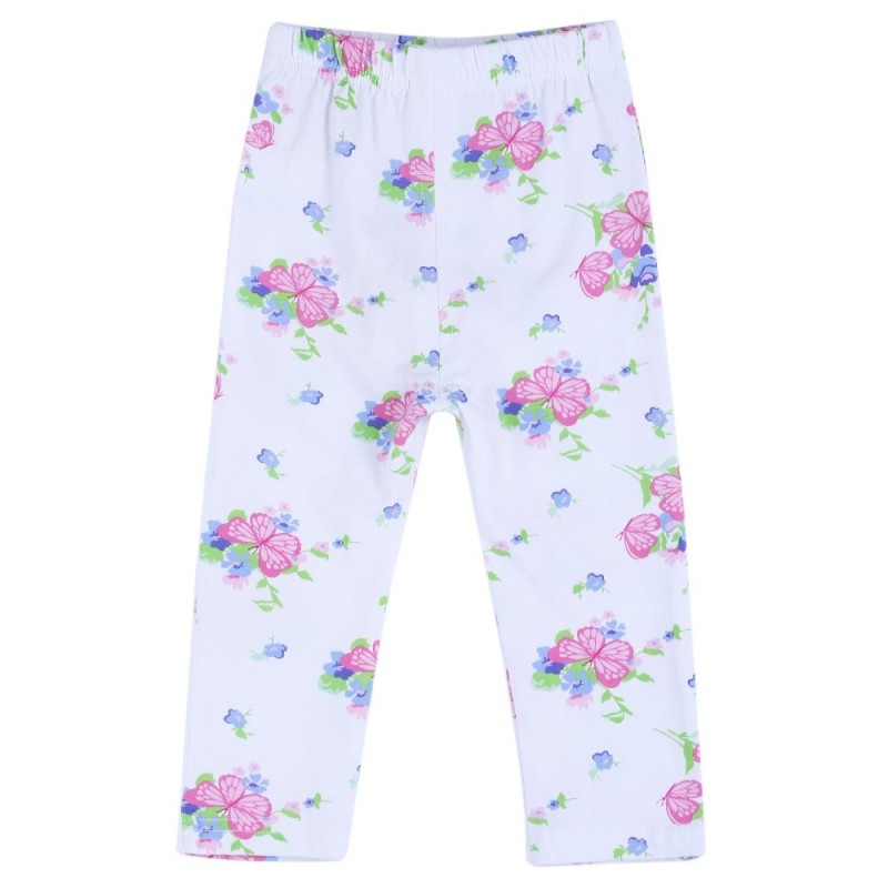 Infant Baby Girl Child Print Elastic Long Pants Leggings - Butterfly Shape - 2I08214434