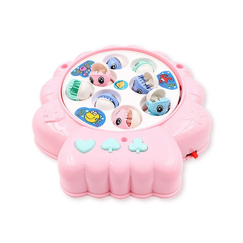 Children's Puzzle Shell Electric Fishing Toy - Pink - 5353436513