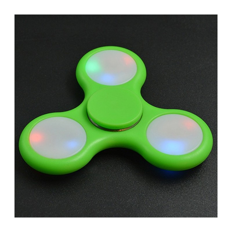 Anti-Stress Toy Color Changing LED Fidget Finger Spinner - Green - 3922817914