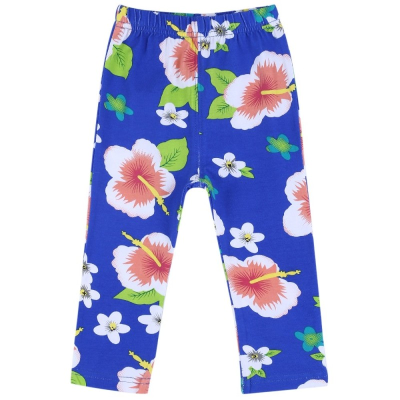 Infant Baby Girl Child Print Elastic Long Pants Leggings - Blue - 2G08214424
