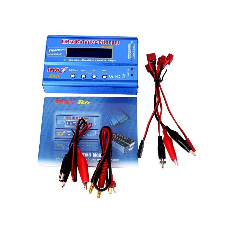 IMax B6 Style LCD Digital RC Lipo NiMh Battery Balance Charger + Cord - Dodger Blue - UMS1172812
