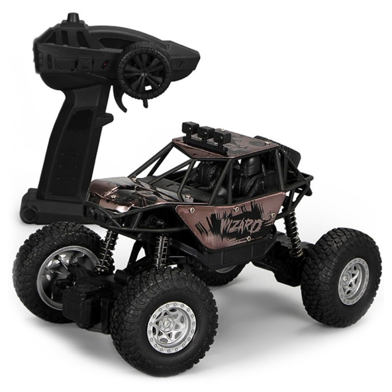 2030 2.4G Wireless Remote Control 1:18 Alloy High Speed Off-road Vehicle Toy - Black - 5249805414
