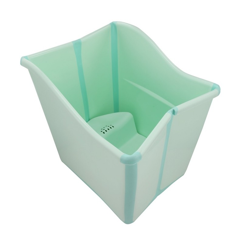 Large Thickened Folding Baby Bath Tub - Green - 3047869813