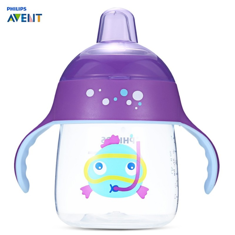 Philips Avent 9oz / 260ml Baby Handle Drinking Sipping Bottle - Purple - 3859958612