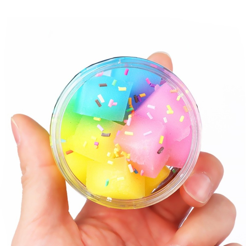 Creative DIY Rainbow Crystal Mud Stress Relief Toy - Multi - 3B76014212