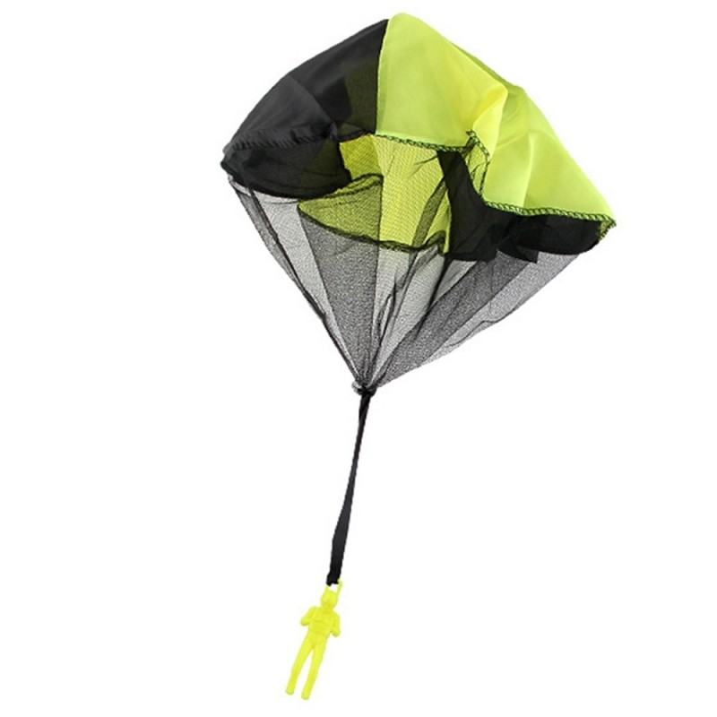 Soldier Men Base Jumpers Kids Hand Throwing Parachute Classic Operated Cloth Toy - Yellow - 3M72469514