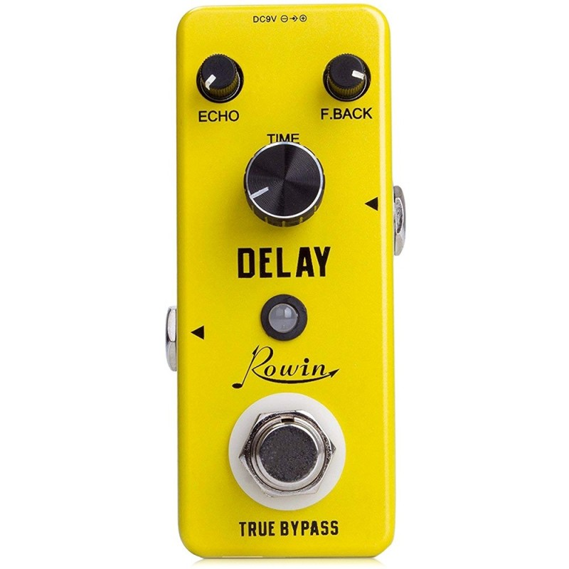 ROWIN LEF - 314 Classical Delay Analog Effects Pedal for Guitar - Goldenrod - 3U83806012