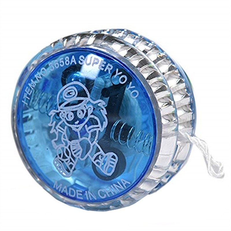 Flashing LED Glow Light Up YOYO Ball - Ocean Blue - 4629672314