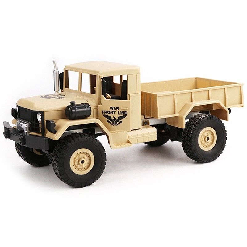 JJRC Q62 1/16 2.4G 4WD Off-Road Military Truck Crawler RC Car Toy - Champagne - 4541826912