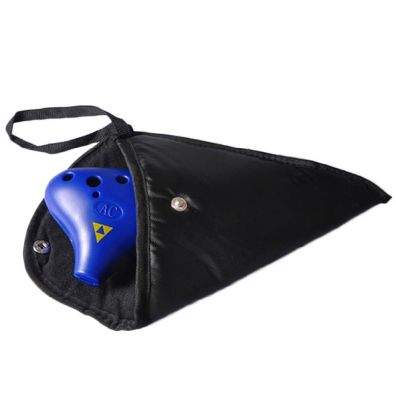 12 Holes Ocarina Ceramic Alto C Protection Bag - Black - 2M46120112