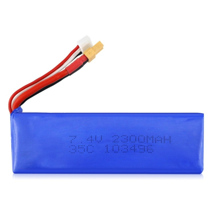 MJX - B6 7.4V 35C 2300mAh Upgraded Lithium Ion Battery for MJX B6 Quadcopter - Blue - 3127910212