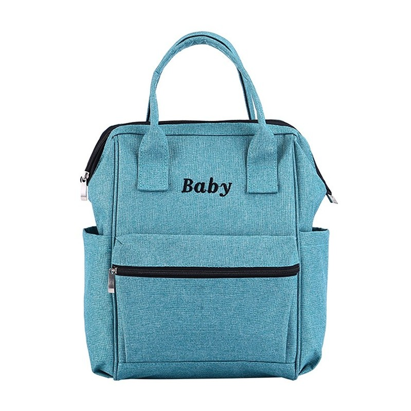 8860 Multifunction Large Capacity Waterproof Outing Mom Bag - Blue Hosta - 5240294112