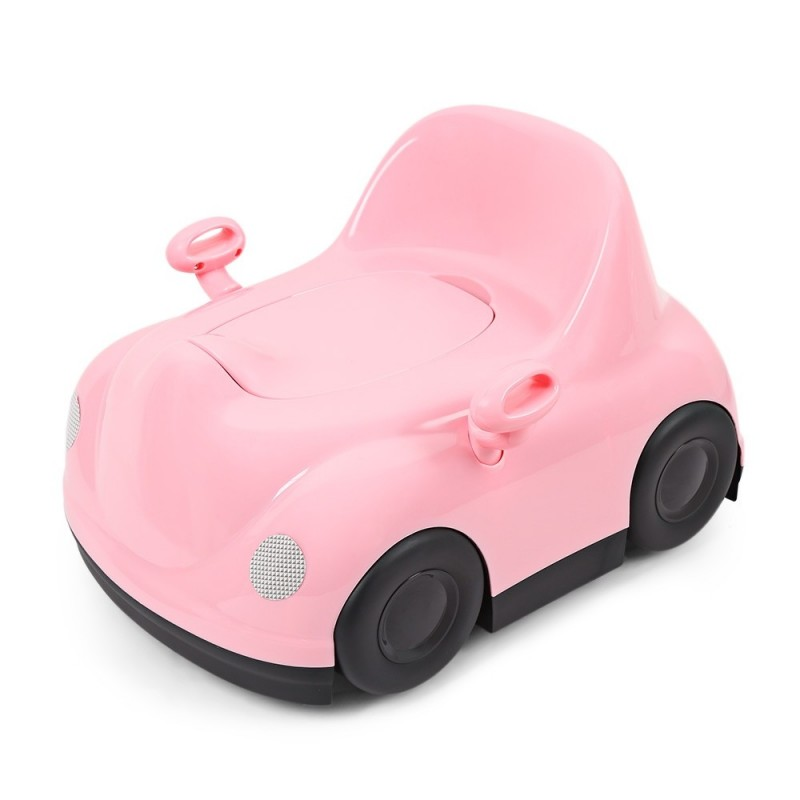 Baby Infant Potty Chair Car Shape Child Toilet Training Seat - Pink - 3789840212