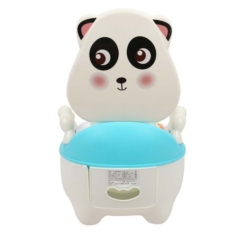 Children Cartoon Potty Toilet Urinal for Male and Female Baby - Blue - 3U83276212