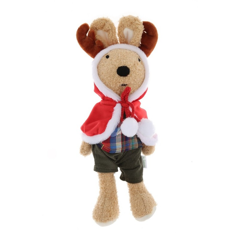 Cute Stuffed Elk Plush Doll Toy Birthday Christmas Gift for Sale - Brown - 3730910414