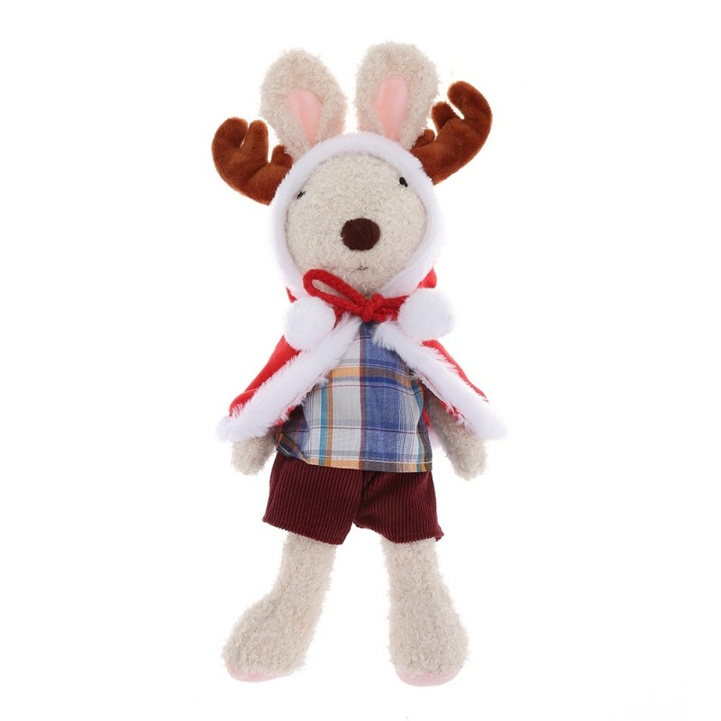 Cute Stuffed Elk Plush Doll Toy Birthday Christmas Gift for Sale - White - 3S30910413