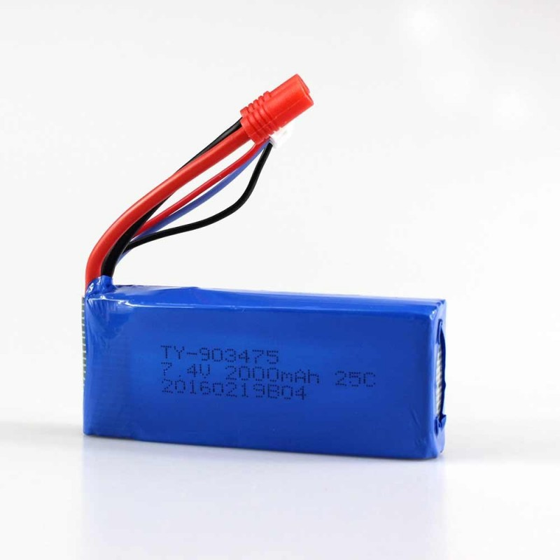Spare Banana Plug 7.4V 2000mAh 25C Battery for Syma X8C X8W Remote Control Quadcopter - Blue - 2A55838612