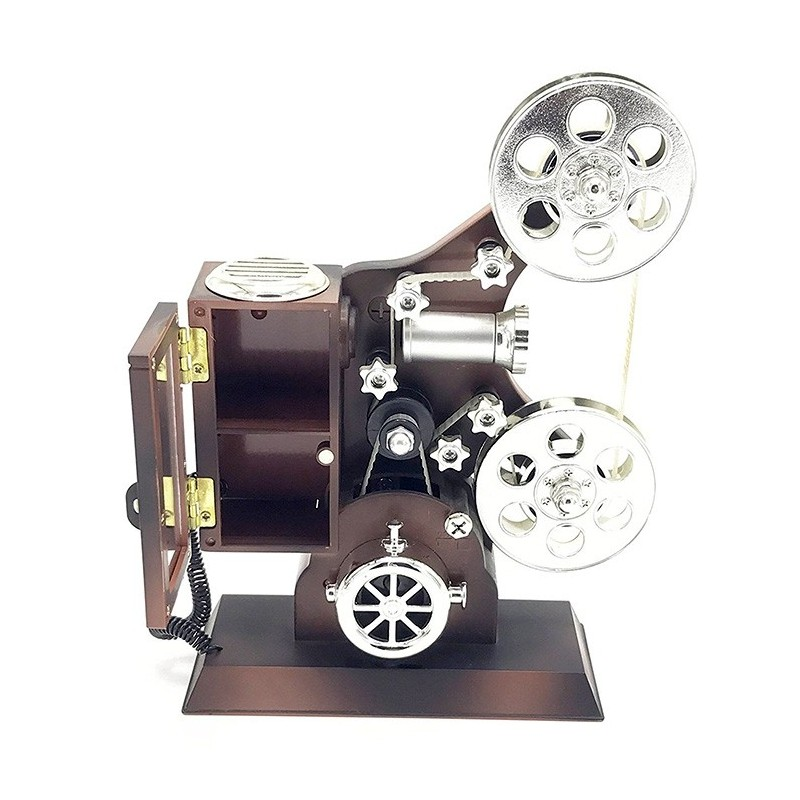 Movie Projector Plastic Music Box - Brown - 3H48615012