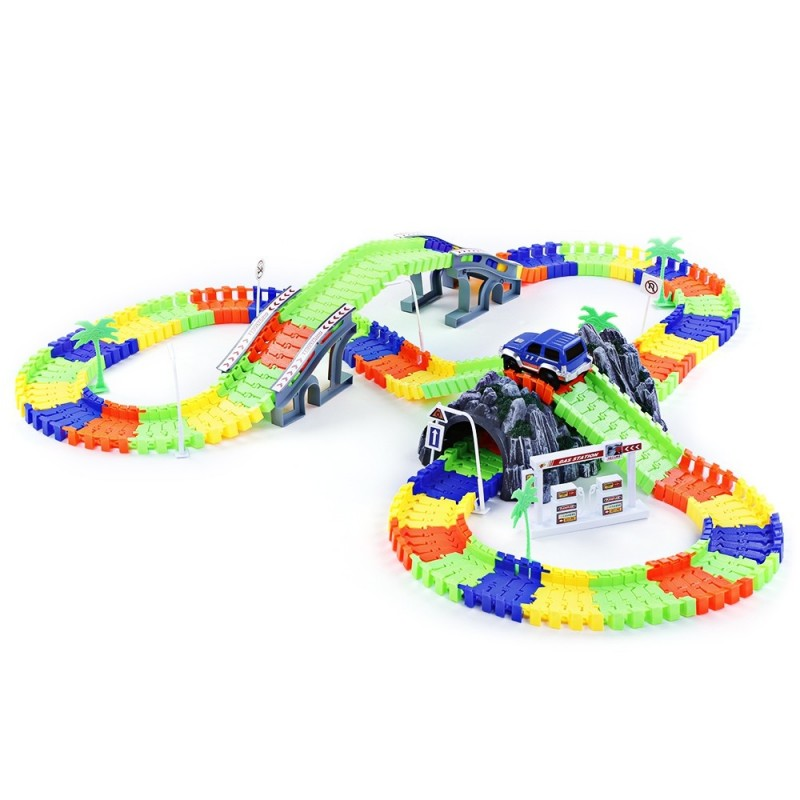 192PCS NO.238 DIY Racing Track Assembly Flexible Twister Car - Colormix - 3138408012