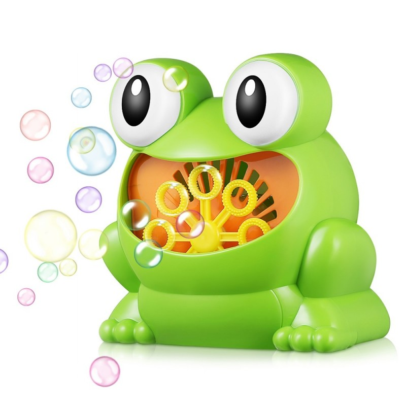 011 Frog-shape Full Automatic Bubble Machine Children Toy for Boys and Girls - Zombie Green - 3E70866312