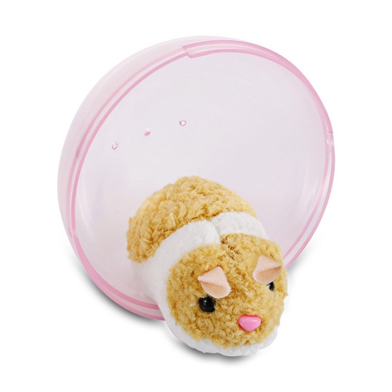 Happy Hamster Rolling Exercise Transparent Ball Kids Electronic Pet Toy - Pig Pink - 3I92122512