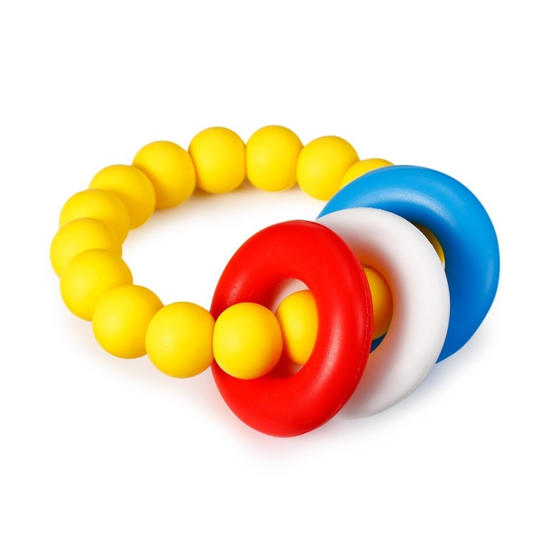 YJ001 Bracelet Silicone Teething Phase Toy for Infants Children - Yellow - 4N10495714