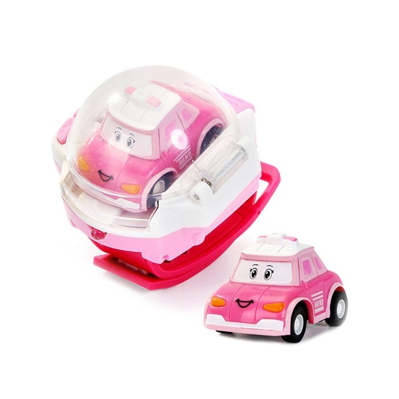 Mini Watch with Remote Control Car Children Toy - Pink - 3685083413