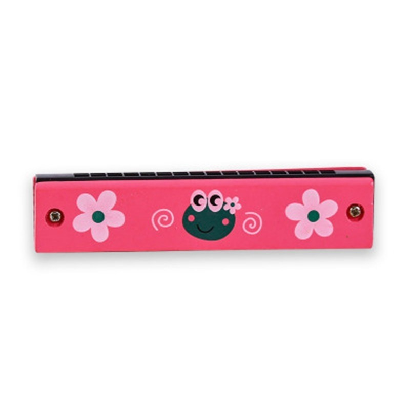 Wooden Tremolo Harmonica for Beginner Colorful Music Instrument Educational Toy - Multi-B - 4A87478213