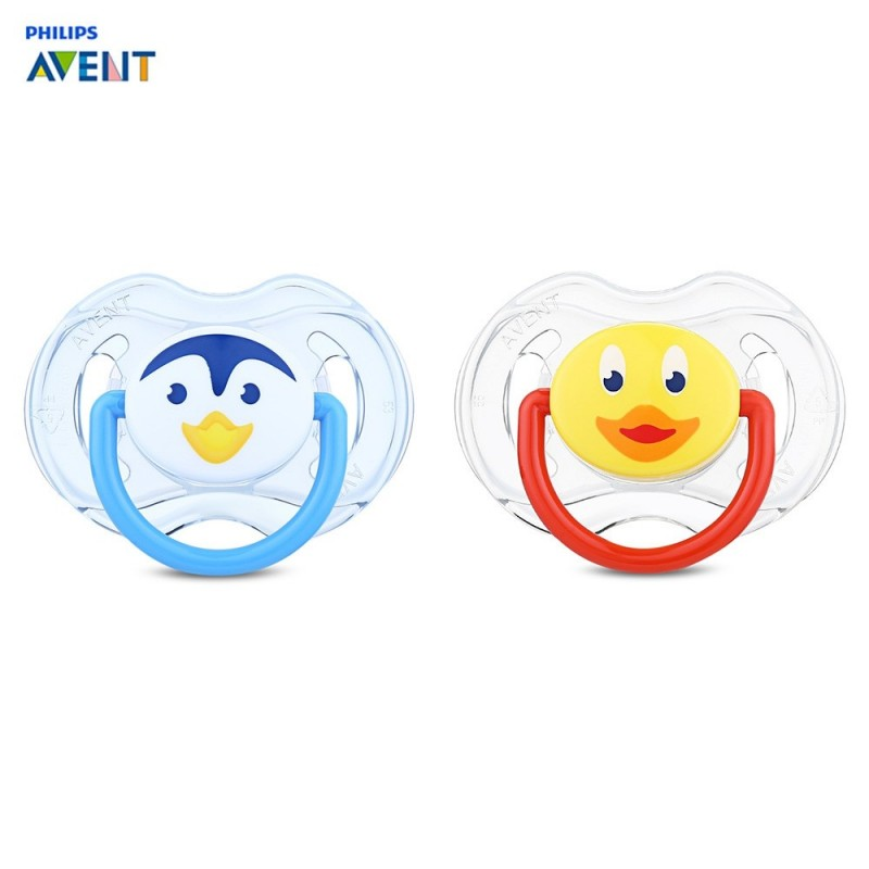 Philips Avent 2pcs Baby Soother Infant Silicone Nipple Pacifier - Transparent - 3F57855712
