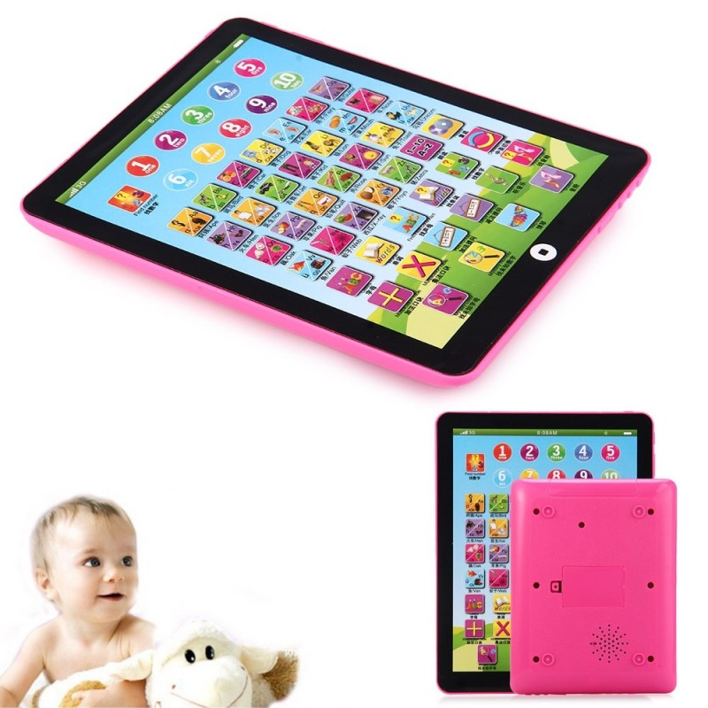 Kids Children English Learning Pad Toy Educational Computer Tablet - Pink - 2R66636813